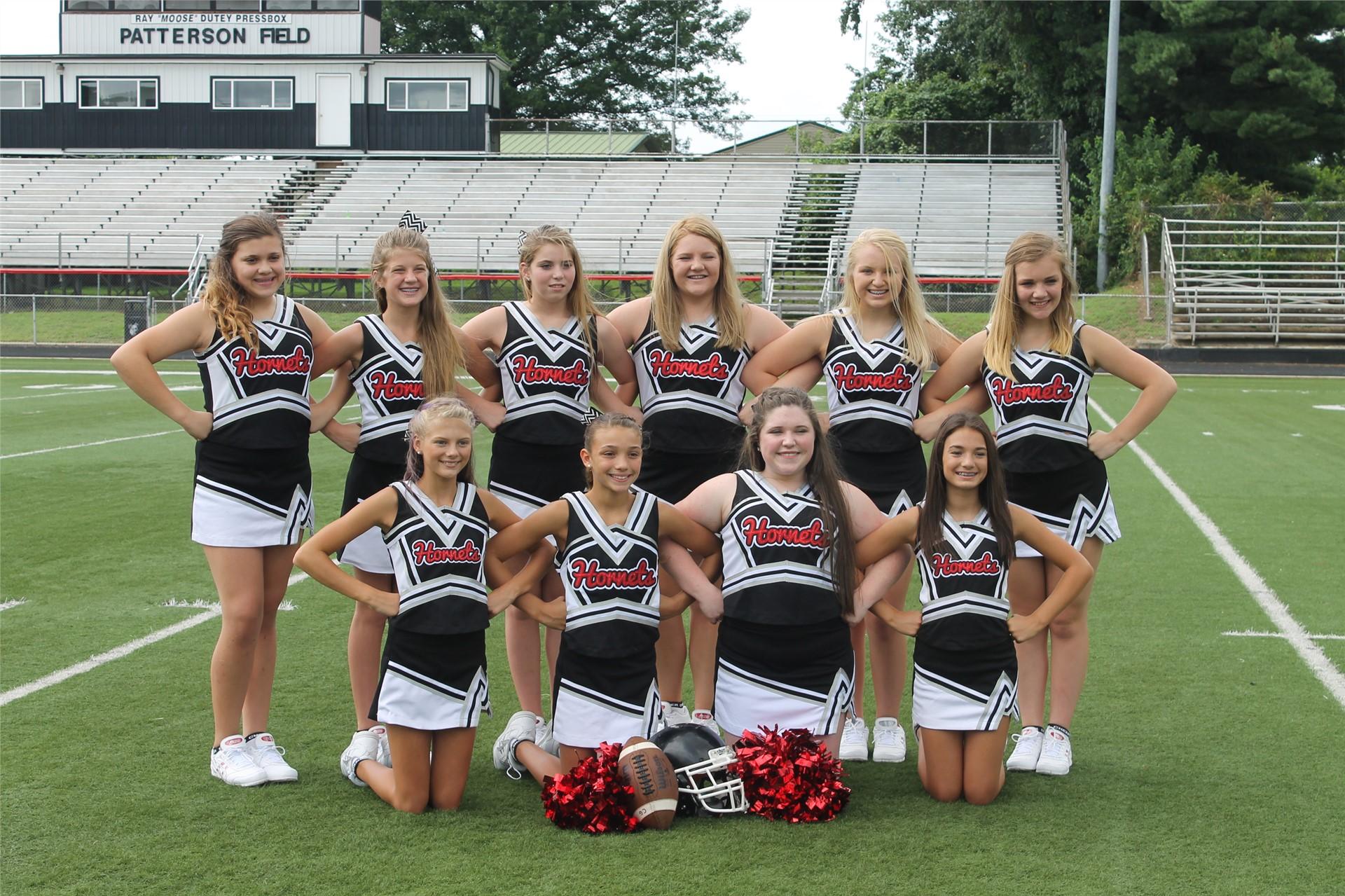 2016-2017 Middle School Cheerleaders