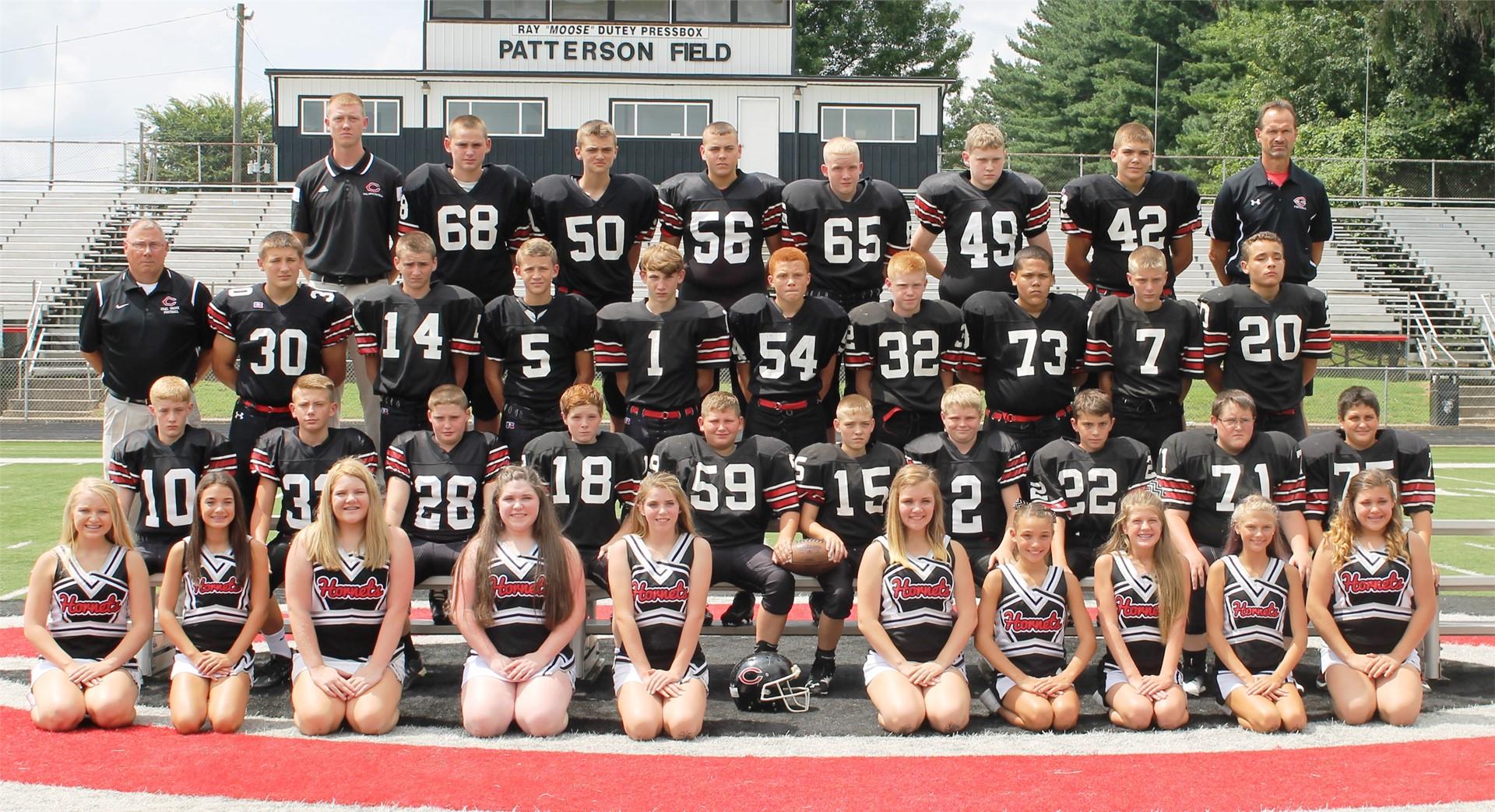 2016-2017 Middle School Football Team